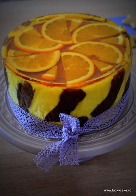 tort portocale ciocolata mousse ganache