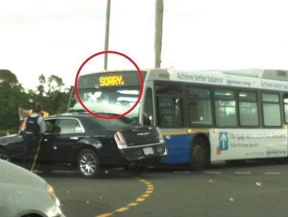The buses are apologetic:   38 Reasons Everything Is Way Better In Canada