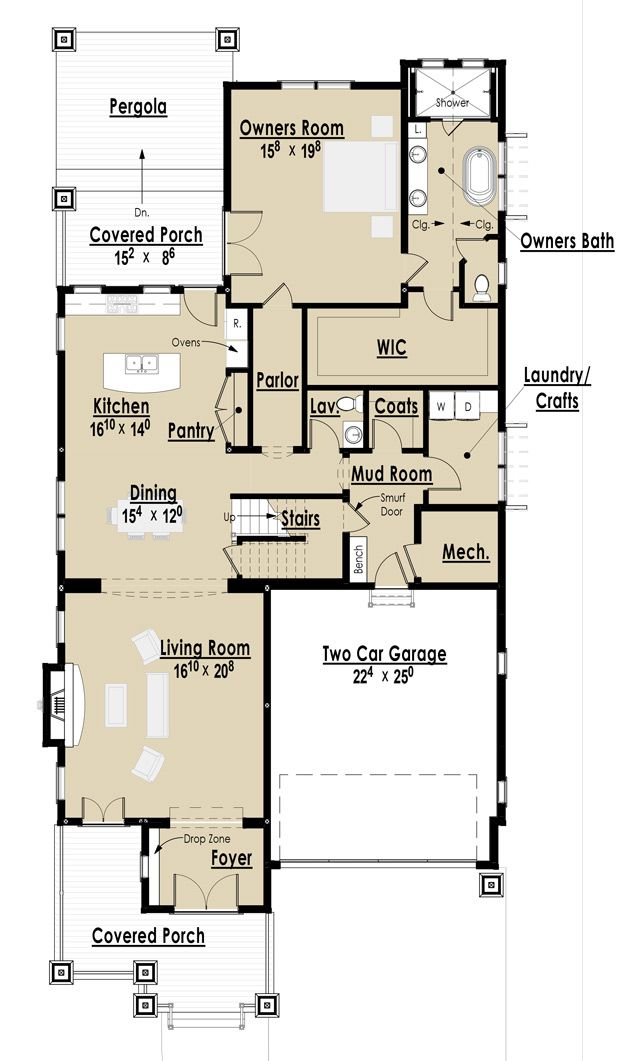 19 Best Floor Plans For Narrow Lots Images On Pinterest