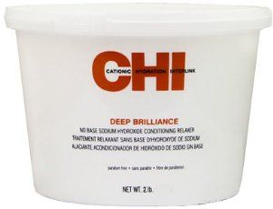 CHI Deep Brilliance No Base Sodium Hydroxide Conditioning Relaxer, Mild / 2 lb. tub by CHI. $35.63. CHI Deep Brilliance No Base Sodium Hydroxide Conditioning Relaxer Mild 2lb.. CHI Deep Brilliance No Base Sodium Hydroxide Conditioning Relaxer Mild strength relaxer is formulated for sensitive scalps. Normal strength is relaxer is formulated for hair in normal condition. Super strength relaxer is formulated for coarse, resistant hair. The relaxer has a sodium hy...