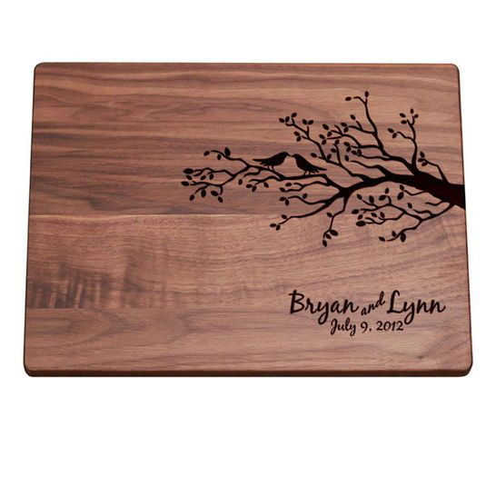Personalized Cutting Board (Birds on a Branch Design) - Darby Smart