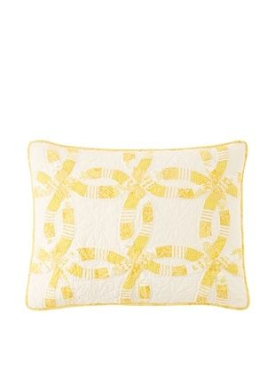 81% OFF Wedding Ring Pillow Sham (Yellow)