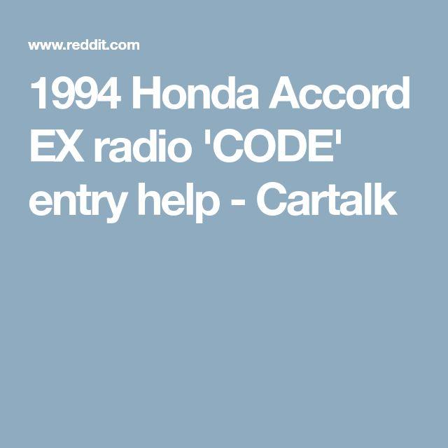 The 25 best radio code ideas on pinterest morse code military 1994 honda accord ex radio code entry help cartalk fandeluxe Choice Image