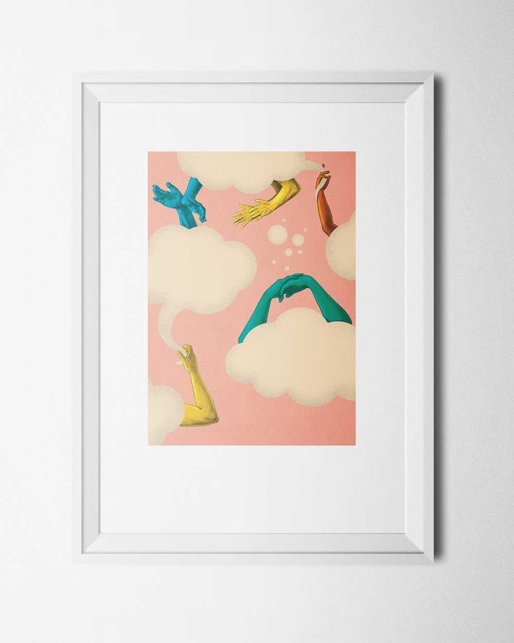 Hello Cloud, by Felicia Fortes. Signed print available in shop.