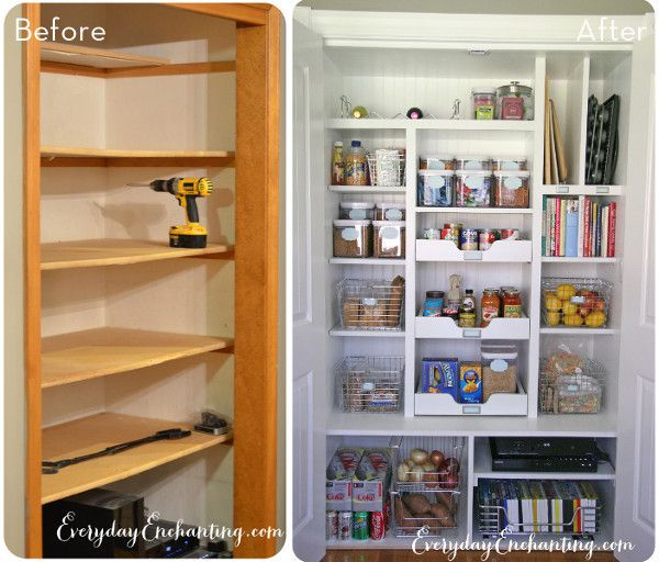 Organized Kitchen Before And After: 1000+ Ideas About Pantry Makeover On Pinterest