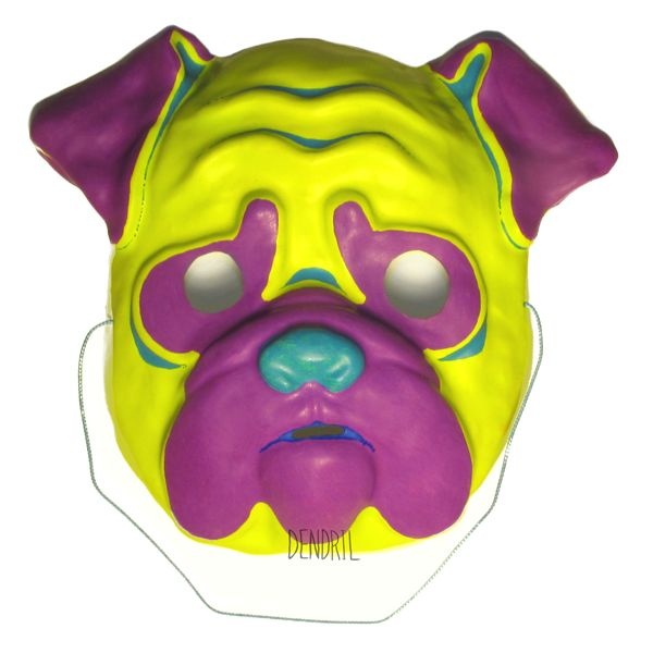 Bright Pug Mask by Dendril