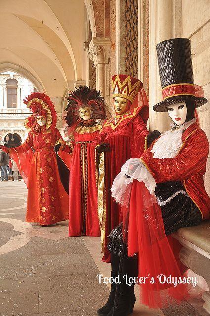 Venetian masquerade costumes and masks