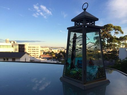 View, taken at 7 am from your B&B Homestay accommodation - our deck at Private n' Peaceful Parnell, Auckland, New Zealand