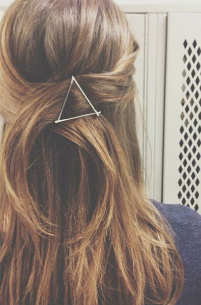 Simple and Chic Hairstyles With Bobby Pins -- Triangular Shape Style