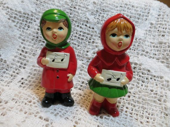 Ceramic Carolers From Japan Boy and Girl by oldandnewboutique, $8.00