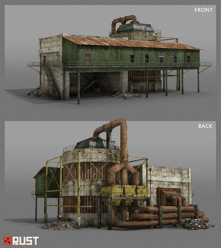 Artstation rust radtown buildings howard schechtman for Online 3d house builder