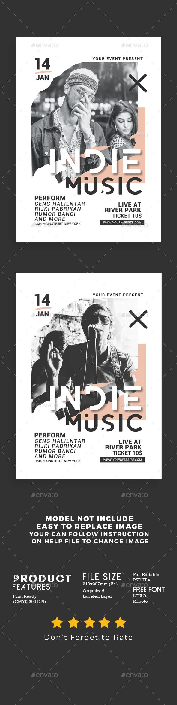 Indie #Music #Flyer - #Events Flyers