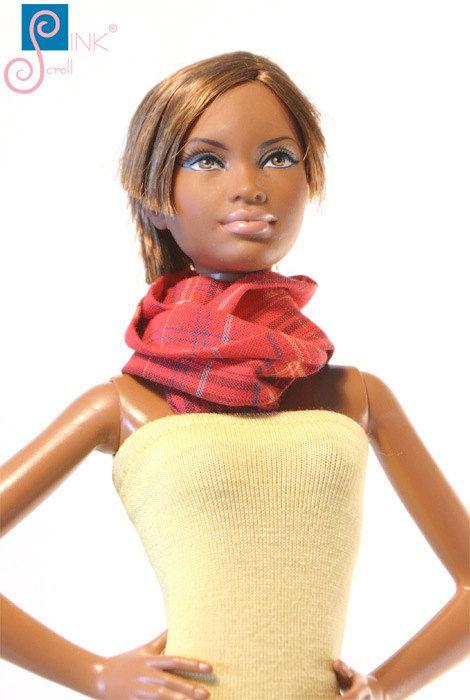 Doll clothes scarf: Johanna by Pinkscroll on Etsy