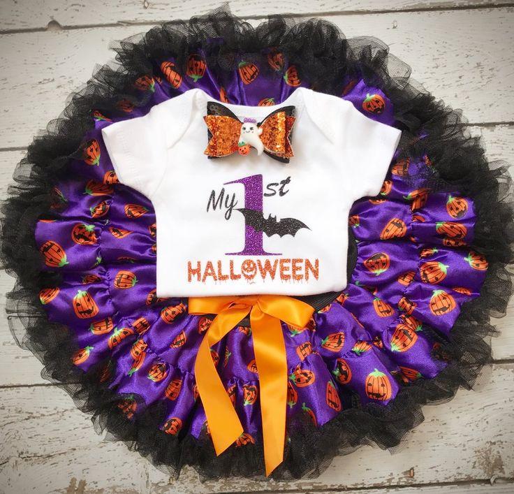 First Halloween/Spooky/Pumpkin/1st Halloween/Baby Girl Halloween costume