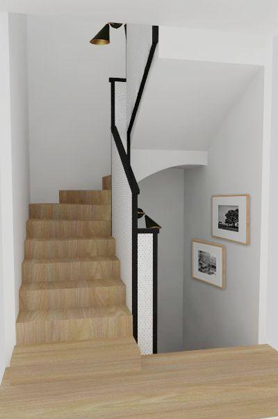 M s de 25 ideas incre bles sobre escalera negro en - Escaleras blancas ...