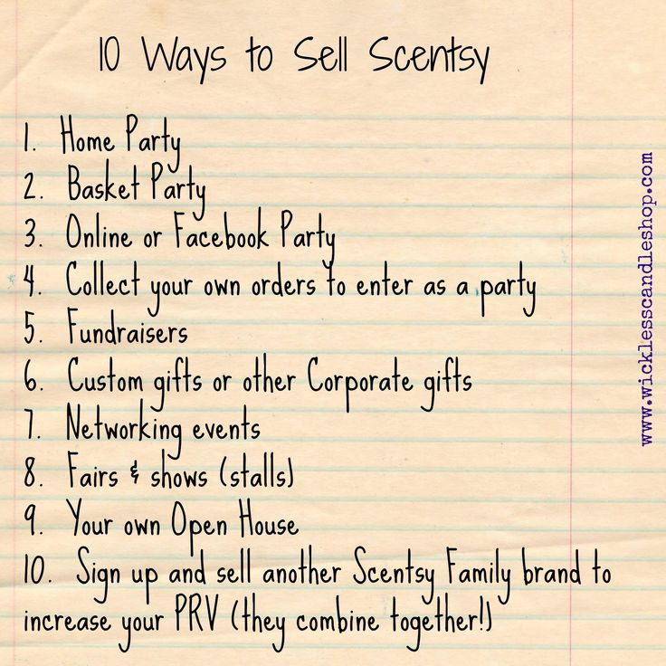 #Scentsy Training Tip video:  10 Ways to Sell Scentsy, Velata