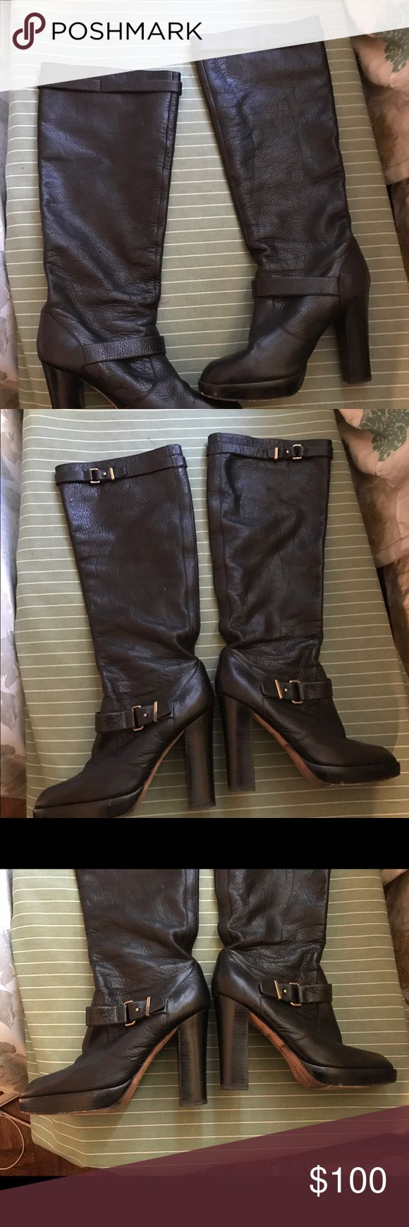 Selling this Coach Black Pebbled leather boots - size 10 B on Poshmark! My username is: hermione123. #shopmycloset #poshmark #fashion #shopping #style #forsale #Coach #Shoes