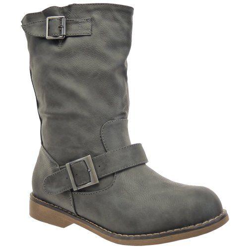 In Offerta! #Offerte Abbigliamento#Buoni Regalo   #Outlet Kickly - Scarpe da Moda Stivaletti - Stivali Scarponi alla caviglia donna Cavalier Foderato di Pelliccia Tacco a blocco 2.5 CM - Grigio disponibile su Kellie Shop. Scarpe, borse, accessori, intimo, gioielli e molto altro.. scopri migliaia di articoli firmati con prezzi da 15,00 a 299,00 euro! #kellieshop #borse #scarpe #saldi #abbigliamento #donna #regali