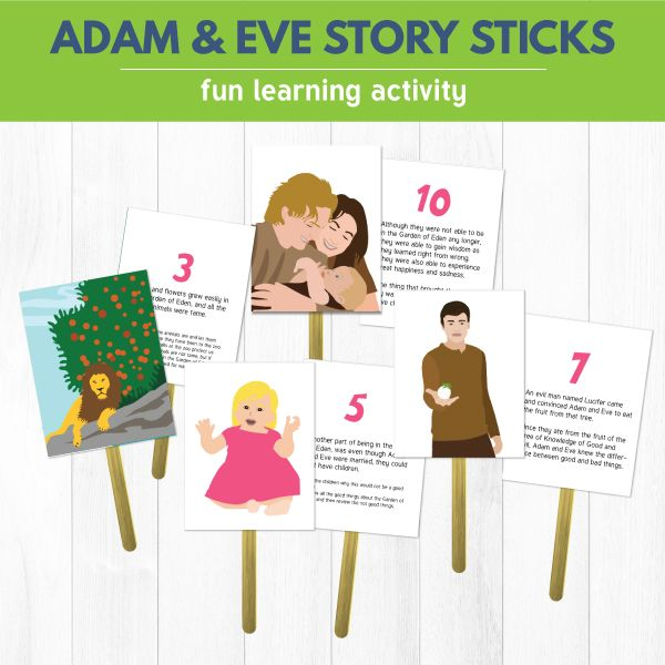 Primary 1 Lesson 14: Adam and Eve Were Created in Heavenly Father's Image - printable teaching helps with the BEST  learning activities for young children.  www.theredheadedhostess.com