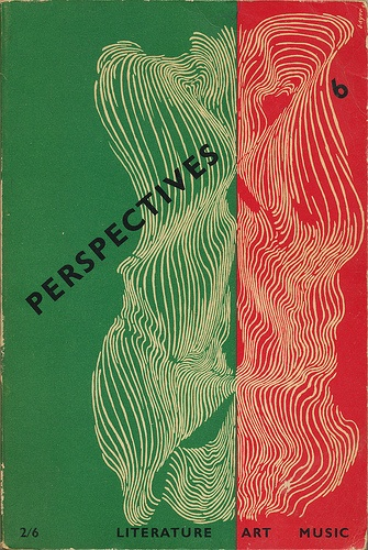 Perspectives #6 cover by Herbert Bayer with typography by Alvin Lustig 1954