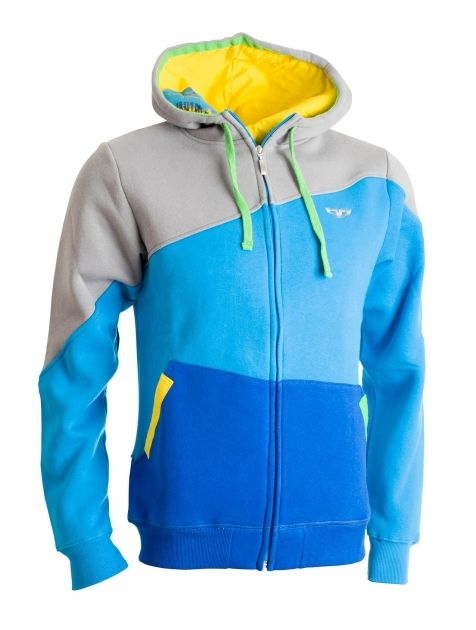 Instinct Sweatshirt Blue - Pro všechny chlapíky, kterým je prachsprostá klokanka málo. Fikaně střižená s libově lemovanou kapucí a kapcama. Pokud nemáte náladu na dlouhé pohledy do očí, vemte si jinou.