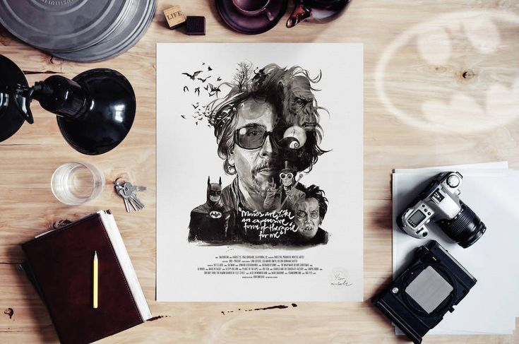 New Illustrated Posters of Famous Directors – Fubiz Media