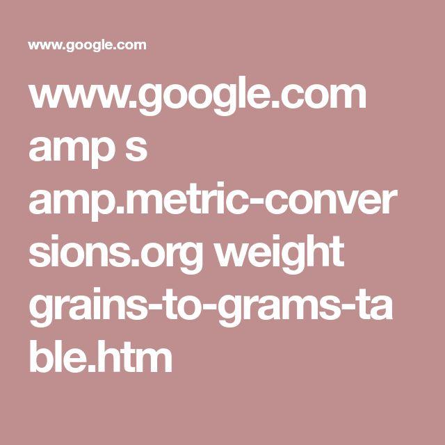 Grains Grams Conversion Table