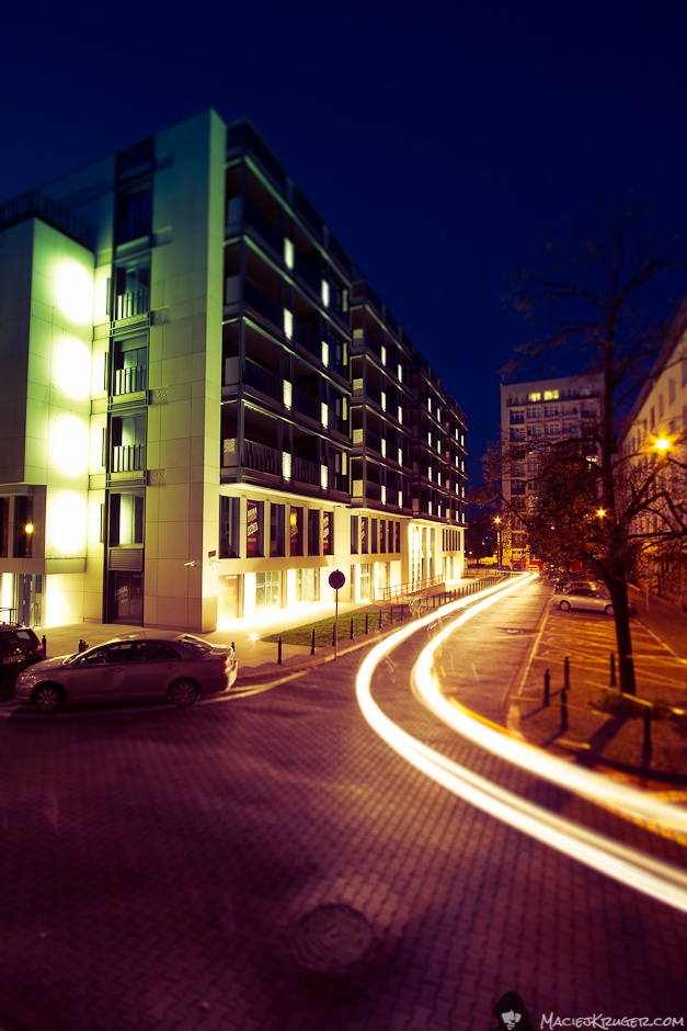Foksal Residence by night