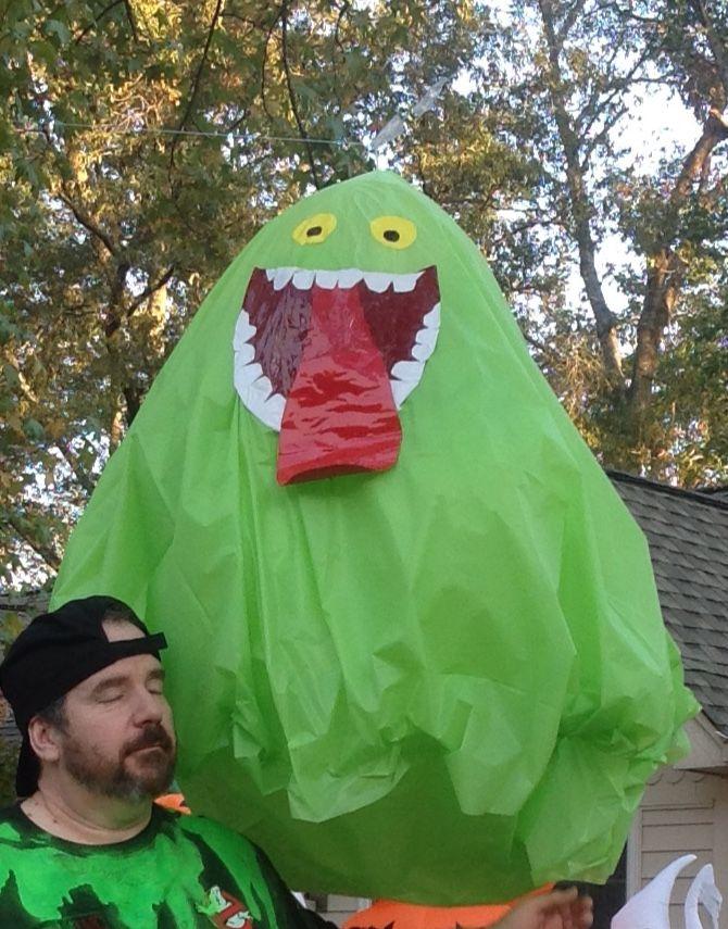 Homemade Ghostbusters Slimer.