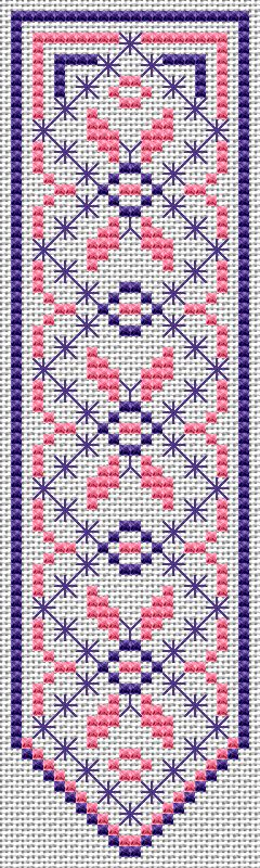 Bookmark free cross stitch pattern
