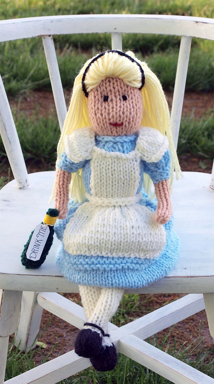 Free Knitting Pattern For Alice In Wonderland Doll Doll With