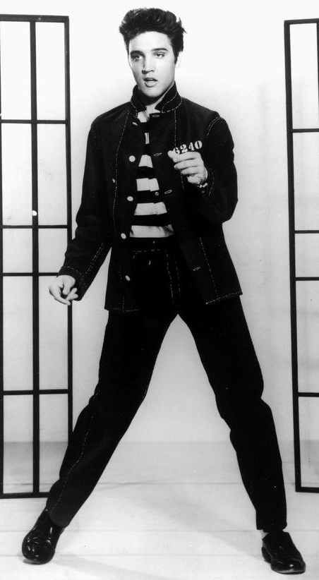 Jailhouse Rock...my favorite Elvis song and my number one pick for karaoke night!