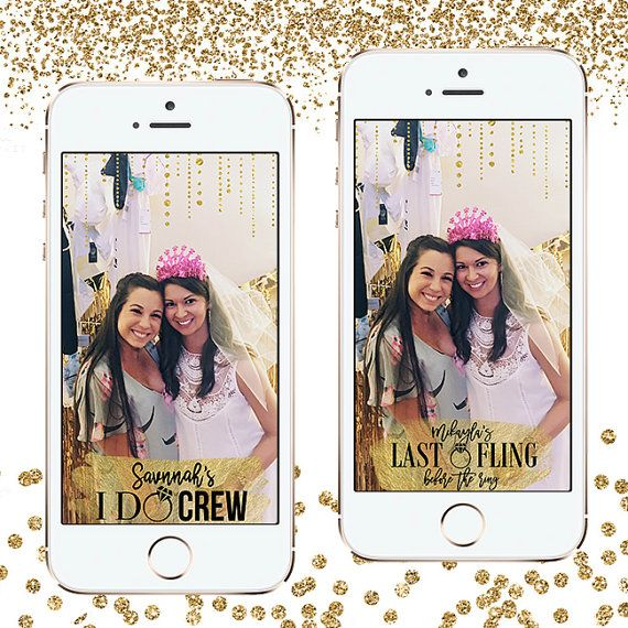 Custom Snapchat geofilter design for your bachelorette party!