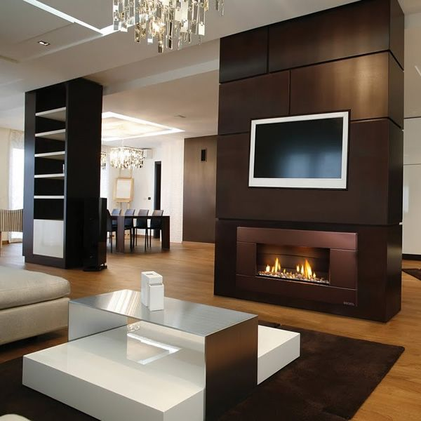 Escea Indoor Gas Florentine Bronze Fireplace - Ferro Front | WoodlandDirect.com: Fireplaces - Gas & Inserts, Fireplace Units