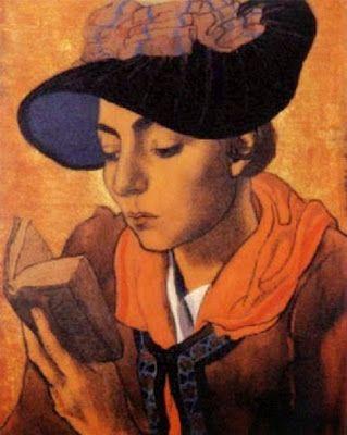 Charles-Clos Olsommer  Jeune Valaisanne lisant un livre