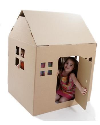 casita de carton