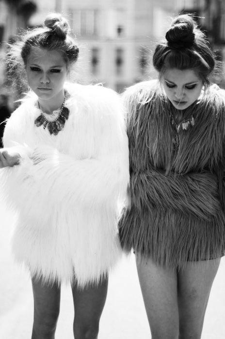 Top knots and fur coats
