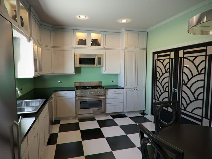 You can update your cooking area into art deco kitchens there are several ways to create art deco kitchens
