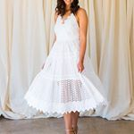 Italo broderie anglaise dress Size    A romantic PINKO dress featuring thin straps and a full skirt  A sensual dress ready to hire now dressatmine Dont be left short for your weekend outfit click on the link in the profile or infodressatminecomau dressatmine italiandesigner hireme