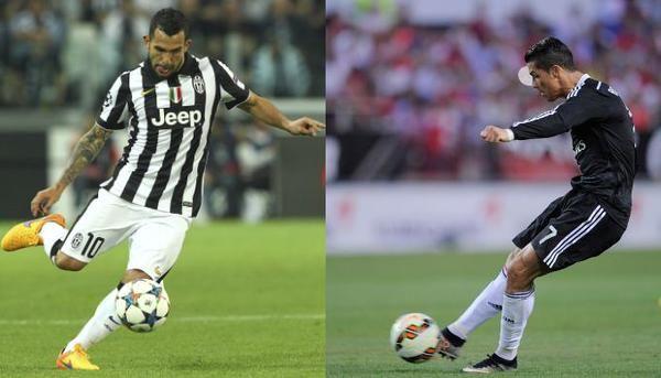 Sfida Tevez Ronaldo in Juventus-Real Madrid diretta canale 5 streaming sky rojadirecta