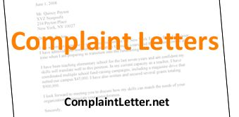 letter of complaint examples lots of situational complaint letter templates