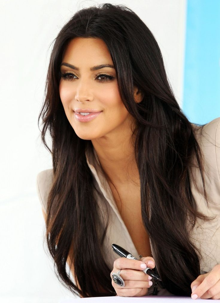 kim in a perfect makeup