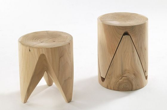 Th is a multifunctional stool in solid wood, designed by Japanese talent Sakura Adachi...