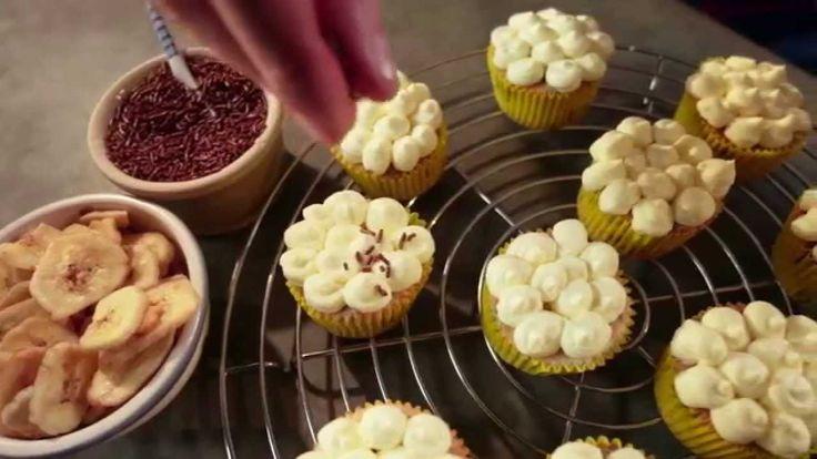 Zelf makkelijk Banaan Chocolade Cupcakes maken met Blue Band