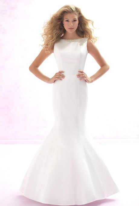 Simple Satin Wedding Gowns For Your Second Time Around. #weddings #satin # Dresses
