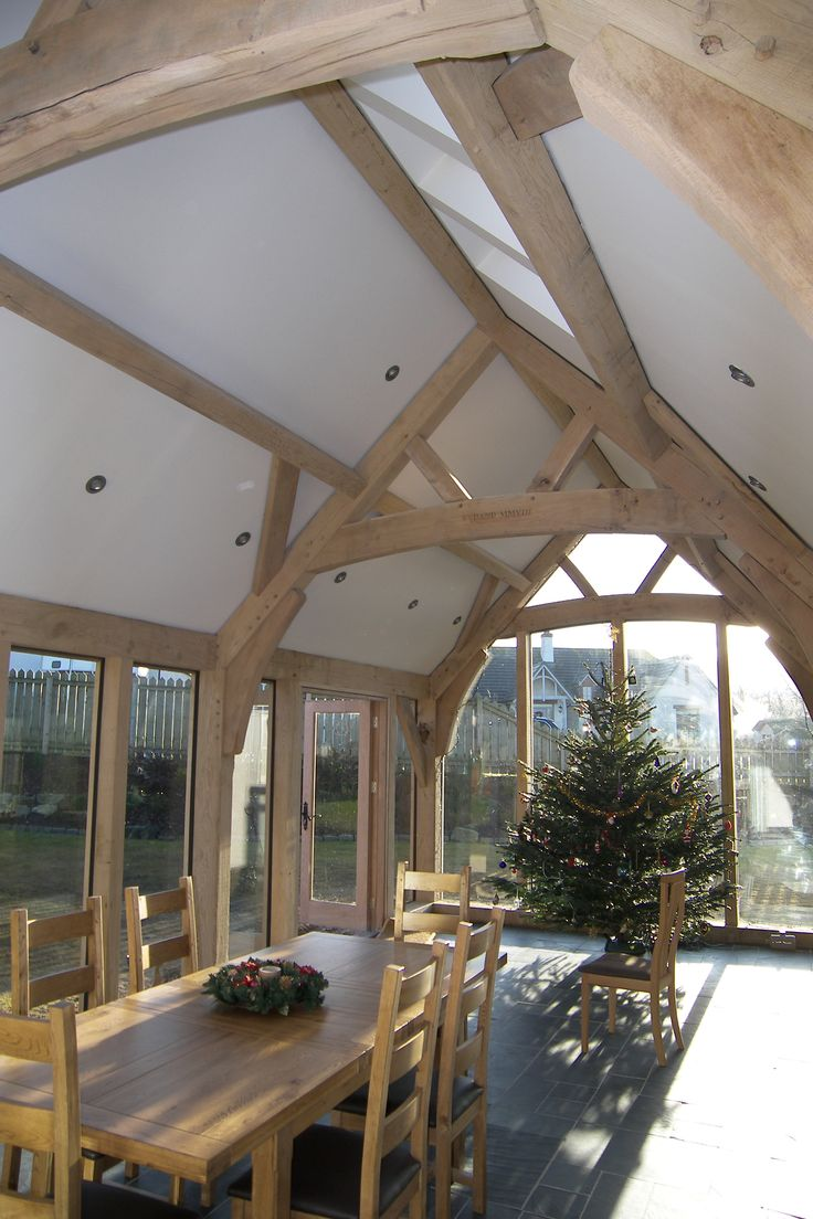 Oak framed extension Like the height of the A brace