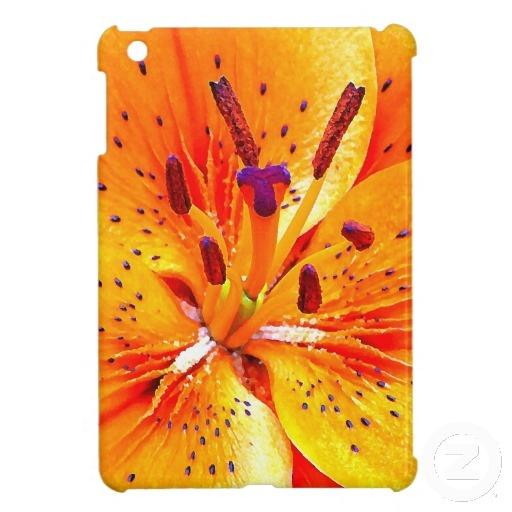 Bright Orange Macro Flower Photo iPad Mini Case