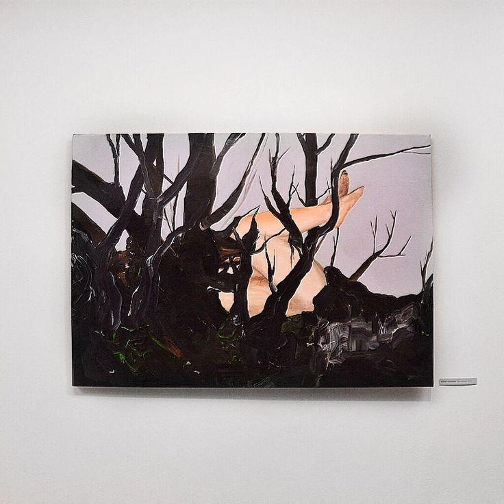 """Natalia Bażowska """"Kiełkowanie"""", 2015; Wystawa """"Co ukryte. Aktualna Sztuka ze Śląska"""" w Państwowej Galerii Sztuki w Sopocie (16.10.-15.11.2015) #pgssopot #artgallery #exhibition #slask #sopot #painting"""
