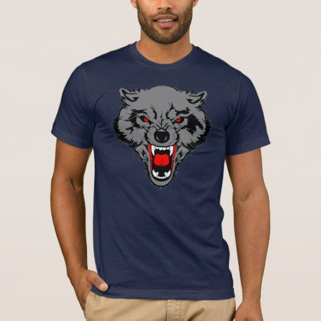 Scary Wolf T-Shirt - click/tap to personalize and buy