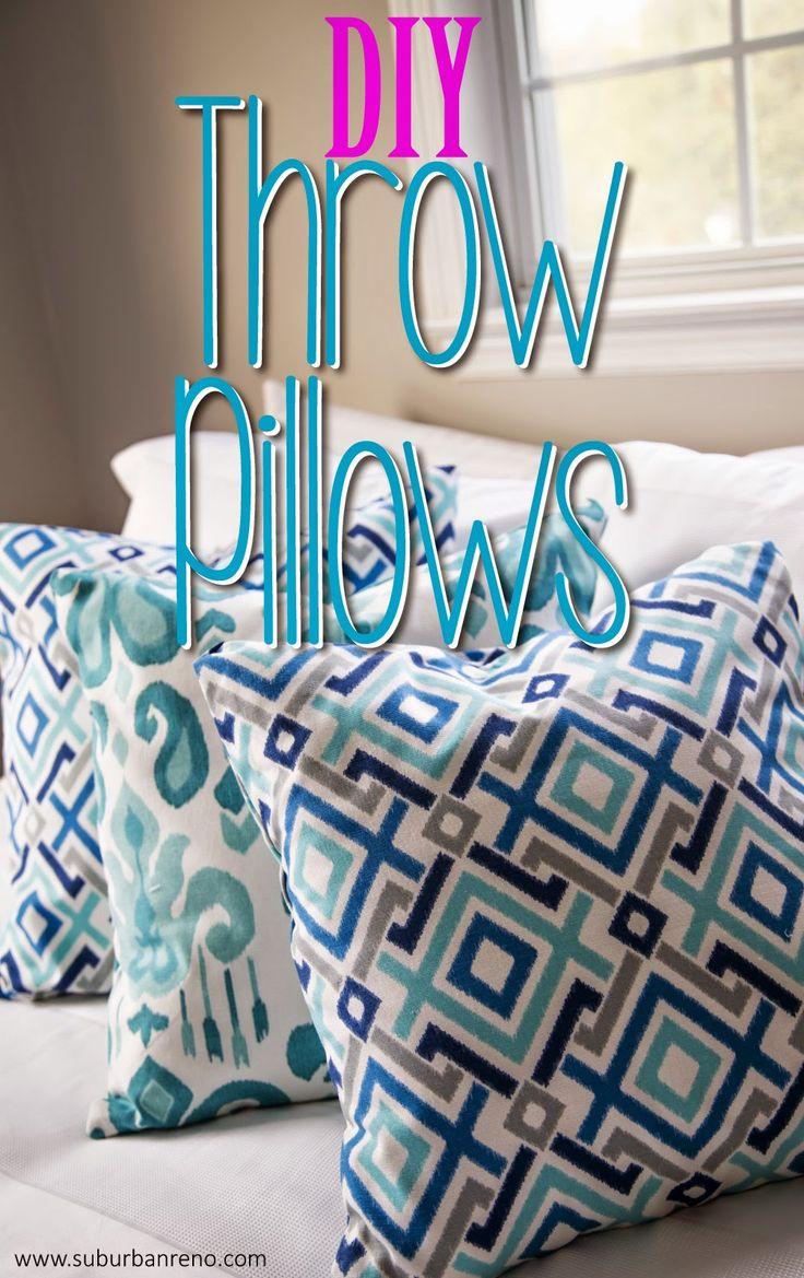 DIY Throw Pillows (no sewing necessary!) by Suburban Renovation